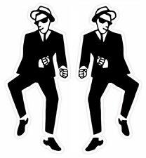 More details for ska dancer vinyl stickers window laptop 2tone walt retro specials skinhead mods