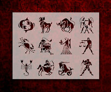 "All Zodiac Astrology Signs Symbols 8.5"" x 11"" Stencil FAST FREE SHIPPING (725)"