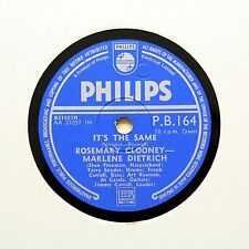 """MARLENE DIETRICH & ROSEMARY CLOONEY """"It's The Same"""" (EE+) PHILIPS PB-164 [78]"""