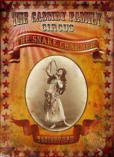 "Il Snake Charmer il Cassidy'S FAMILY CIRCUS ""stile Vintage Metallo Segno"