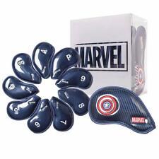 Volvik Iron Golf Head Cover Captain America Marvel Collaboration Genuine 9pcs