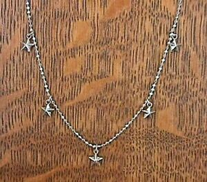 Necklace Petite Stars Dangle Sterling Silver 925 NECKLACE
