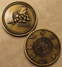 Seabee Construction Battalion Rates / CB Brass Navy Challenge Coin