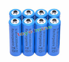8 AA 3000mAh Ni-MH rechargeable battery cell /RC Blue