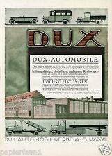 Dux Automobile Leipzig Wahren XL Reklame von 1920 Lastwagen LKW Joe Loe Loewe Ad