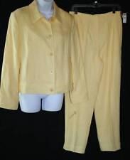 NEW Talbots -Sz 10- Fabulous Rich Classic Yellow Lemon Linen Pants Suit Jacket