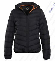 Boys Padded Coat Quilted Lined Hooded Jacket Age 7 8 9 10 11 12 13 Black