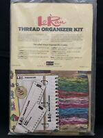 Vtg LoRan Cross Stitch Thread Organizer Kit for 3 Ring Binder Project Cards New