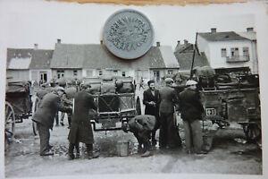 F3) 2x Polen Juden Wasserstelle Feld-Wagen waschen, Marktplatz Wehrmacht 1939