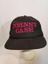 Vintage Johnny Cash  Black Snapback Hat Cap OSFA