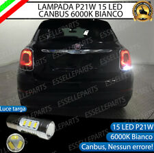 LAMPADA RETROMARCIA 15 LED P21W BA15S CANBUS PER FIAT 500X 6000K NO AVARIA