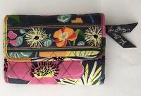 Vera Bradley Tri-Fold Jazzy Blooms Wallet Floral Retired Pattern