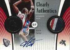 2006-07 E-X Clearly Authentics 4 COLOR PATCH AUTOGRAPH Vince Carter #1/3