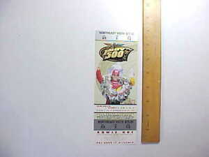 2001 INDIANAPOLIS 500 AUTO RACE UNUSED $75 TICKET PICTURE OF 2000 WINNER Fine