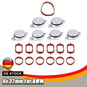 Drallklappen mit Dichtung Ansaugbrücke 6x 32 mm für BMW 5-ER E60 E61 530-d 525-d