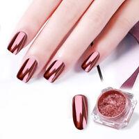 1G BORN PRETTY Rose Gold Nail Art Glitter Mirror Powder Dust Pearl Chrome Tips