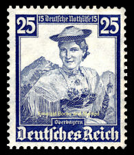 EBS Germany 1935 Nothilfe - Regional Costumes - 25+15 Pfennig - Michel 595 MNG