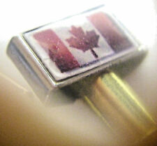 Cribbage Board Pegs 2-Flag Of Canada Brass/Stainless Metals, FREE Velvet Pouch '