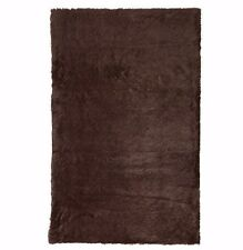 Soft Shaggy Faux Fur Area Rug Throw Accent Play Plush CHOCOLATE Rectangle 5x10