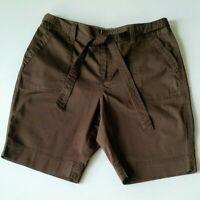 St Johns Bay Womens Bermuda Shorts Petite Size 10P Chocolate Brown NEW WT OS