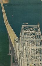 Vintage Postcard - Air View of Approach to Main Span - Tampa Bay Bridge FL