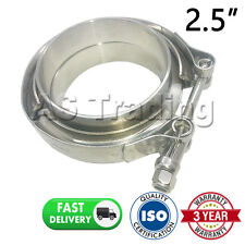"V-BAND CLAMP + FLANGES COMPLETE STAINLESS STEEL EXHAUST TURBO HOSE 2.5"" 63.5mm"