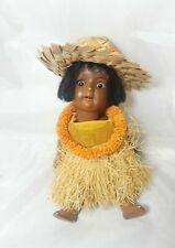 "Antique Schoenau and Hoffmeister German Hawaiian Doll Hanna 11/0 6.5"" Tall"