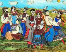 Ukrainian Folk Art by Elena Diadenko, Ukrainian Wedding, Print