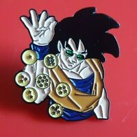 Dragon Ball Z Goku Salt Bae Pin Enamel Brooch Lapel Badge Cosplay Gift Gaming