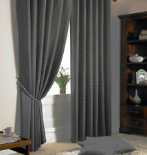 PLAIN MODERN PATTERN CURTAINS FULLY LINED PENCIL PLEAT FREE TIE BACKS MADISON