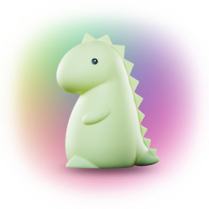 Dinosaur Night Light, Color Changing Integrated LED Rechargeable Silicone