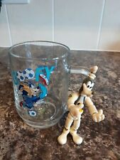 Goofy Figure And Pint Glass