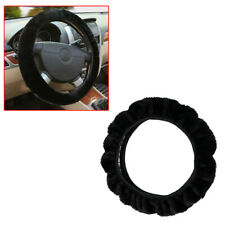 """15"""" Car Steering Wheel Cover Winter Warm Soft Plush Auto Accessories Black(Fits: More than one vehicle)"""