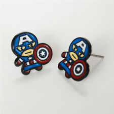 Marvel Comics Kawaii Captain America Earrings