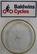 "27"" x 1 1/4 FRONT Bike Wheel + SCHWALBE Premium Amber Wall Tyre & Tube"