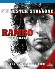 RAMBO First Blood Quadrilogy 1, 2, 3 & 4 Blu ray Set RB New & Sealed