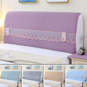 Lace Headboard Slipcover Elastic Bedside Protector Cover Dustproof BedHead Cover