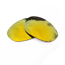 24K Gold Mirrored Replacement Lenses for-Oakley X Metal XX Sunglasses Polarized
