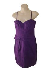 New Purple Lipsy Dress Size 10 Stretchy Cotton Party Frock