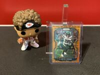 2020 Panini Prizm La'MICAL Perine Rookie Orange Lazer Prizm #357 New York Jets!
