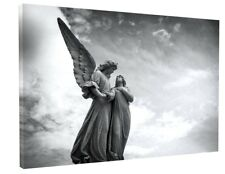 ANGELS CANVAS PICTURE PRINT WALL ART CHUNKY FRAME LARGE 1262-2