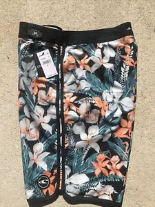 NWT O'Neill Mens Board Surf Shorts Swimsuit 34 MSRP $54 Stretch Plate Lunch