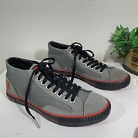 CHROME INDUSTRIES Kursk Bike Sneaker Shoe  Gray Red Sole Mens Size 8