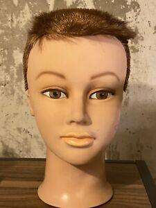Burmax MANNEQUIN HEAD Rubber Crew Cut Hair FLAW or Creepy Halloween Prop