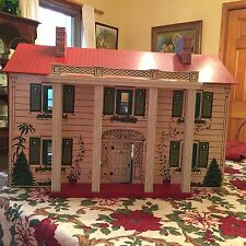 Vintage Rich Toy Co Boston Antique Dollhouse Keystone Large Mansion