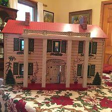 Vintage Rich Toy Co Boston Antique Dollhouse Keystone Large Mansion