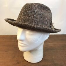 Vintage Pendleton 100% Pure Virgin Wool Fedora Feather in Band 7 1/4 (CH18)