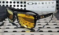 New Oakley HOLBROOK Sunglasses 9102-E355 Gloss Black  w/ 24K Iridium Lenses