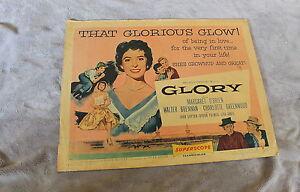 Glory 1956 Walter Brennan Margaret O'Brien David Butler Half Sheet Poster GVG C5