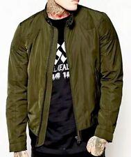 "DIESEL⚡️""J-Hollis"" Quilted nylon moto biker cafe racer jacket, green size Small"